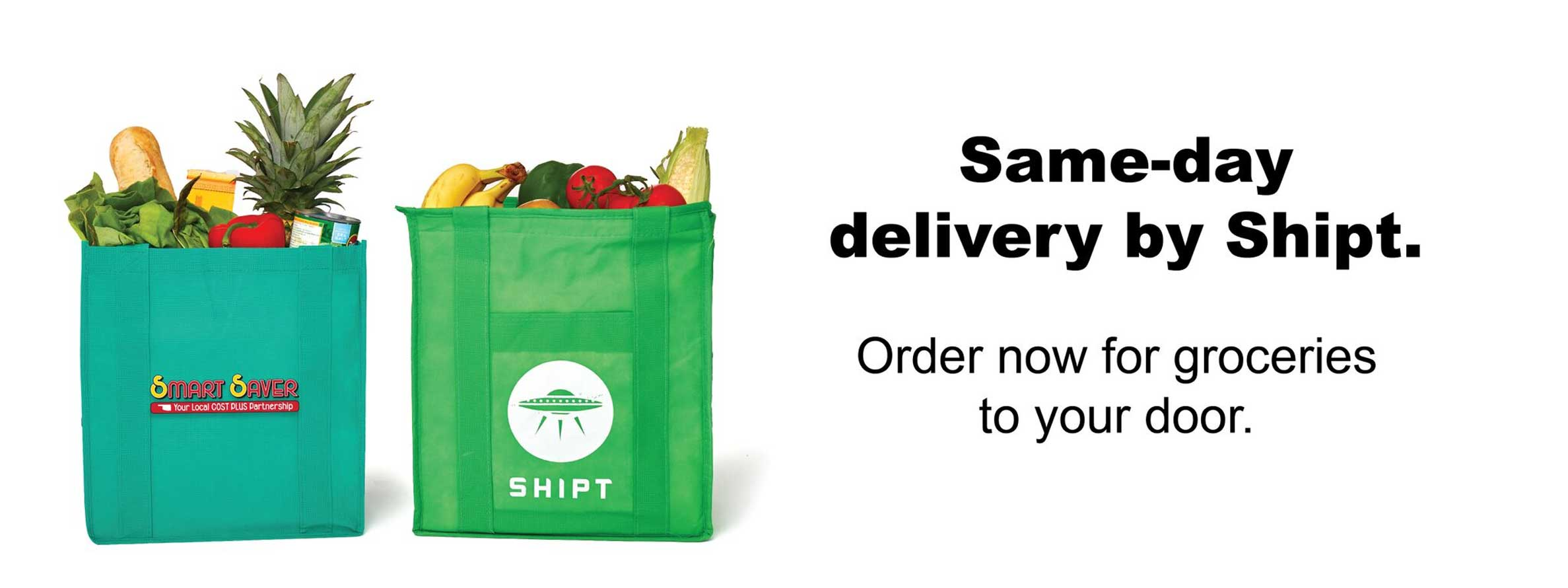 Home delivery with Shipt now available